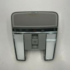 2007 - 2013 MERCEDES S CL CLASS - OVERHEAD DOME LIGHT SUN ROOF SWITCH GRAY OEM