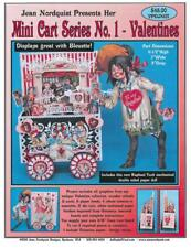 """Jean Nordquist's 1st in Series of Mini Carts - Valentine Cart 11""""H w/Tuck Girl"""