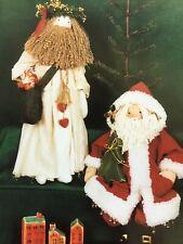 Pattern Primitive Olde World Victorian Santa Claus Dolls Uncut Oop My Sister & I