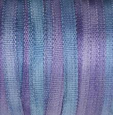 Blue Silk Ribbon 100% Pure 2mm Embroidery - Hand Dyed Hydrangea 3mtr Narrow Thin
