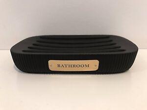 Black & Gold Bathroom Soap Dish - Soap Tray