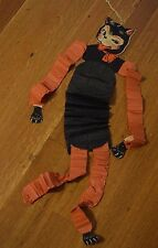 RARE Vintage Halloween Dancing Cat Paper Cut-Out Accordian Decoration Beistle?