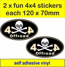 2 off road 4x4 fun stickers graphic Pirate decals land rover defender discovery