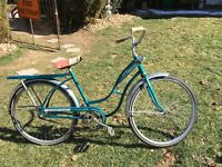Vtg Girls Bike SKY Rider  Road Master Bicycle Original  1960's Sears Sea Blue