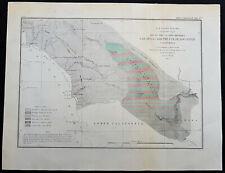 1855 US Coast Survey & Bache Antique Map Colorado River & San Diego, California