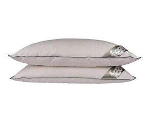 2 Duck Feather Down Pillows Extra Fluffy Anti Allergy Medium Support 15% Down