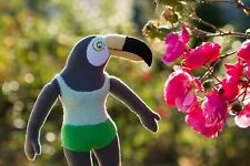 Tuca plush Inspired by Tuca and Bertie, handmade soft toy, Tuca FANART
