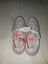 Converse All Star Men Tennis Shoes U S Size 8 Men 10 Women Color White And Pink