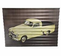 Retro Tin Holden Sign  FJ Ute Yellow Ute  - 40 x 29cm - Mancave Decor