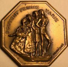 French Jeton - Art Medal - Souvent Femme Varie - Voeux Les Plus Vifs - 31mm
