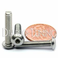 "#8-32 x 7/8"" - Qty 10 - Stainless Steel BUTTON HEAD Socket Cap Screws 18-8 / A2"
