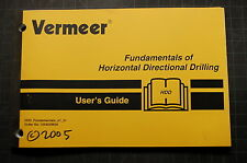 VERMEER Horizontal DRILL User Operation Operator Manual book shop OWNER 2005 oem