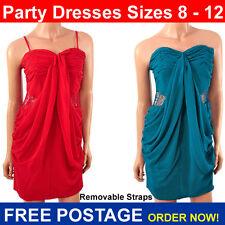 Vestido de noche Vestido De Fiesta señoras vestido de fiesta en rojo o verde azulado. talla 8 10 & 12 Club