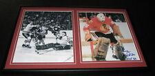 Tony Esposito Signed Framed 12x18 Photo Set Blackhawks vs Phil Esposito