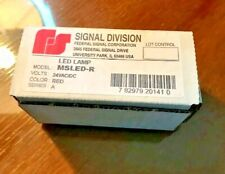Federal Signal Msled R Led Lamp 24vacdc Red Series A