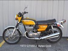 SUZUKI GT550 GT550J RESTORATION DECAL SET 1972 AZTEC GOLD