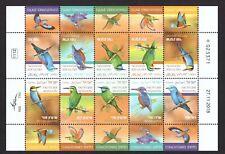 Israel stamps 2019 Birds in Israel- Coraciformes Full Sheet ND MNH #3446