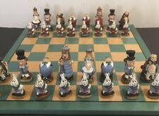 Chess set Alice in Wonderland Hand painted