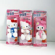 Pez Hello Kitty Fuzzy Keychains 3 Pcs
