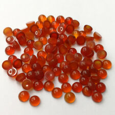 Fashion 4mm red agate stone beads charm round CAB cabochon for jewelry 50pcs