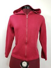 Talbots Woman Sweater Blouse Career Casual Size Large Cropped Top Hoodie Red
