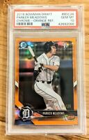 PARKER MEADOWS 2018 Bowman Draft 1st Chrome Orange Refractor /25 SSP Tigers RC