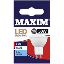 1, 2, 4, 6 or 10 Maxim LED Day Light White GU10 Downlight Light Bulbs 5w=50w NEW