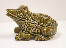 "Vintage Green McCoy Bull Frog Very Large Planter/Vase. 8"" long x 5"" Tall MINT"