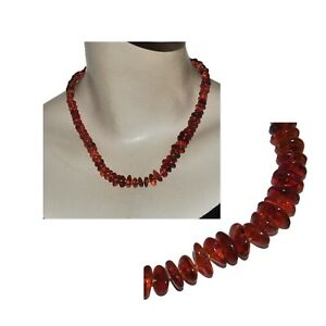 Necklace Vintage Silver Plated and Amber Brown 18 1/8in Jewel