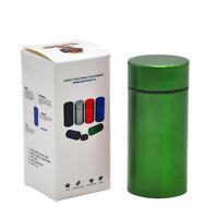 Aluminum Waterproof Rubber Airtight Stash Jar Metal Storage Container-Green