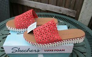 Ladies Skechers Sandals Dahlia Mule Flat Sandals With Luxe Foam UK 6 & 7 BNIB