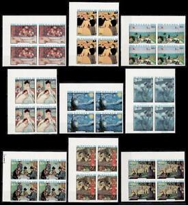 Rwanda Sc983-91 Painting, Renoir, Gogh, Cassatt, Gauguin, Cezanne, Imperf Block.