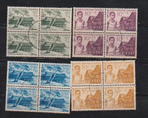 Netherlands New Guinea Scott # B7-10 Used1956 in Blk of 4 Fight Against Leprosy