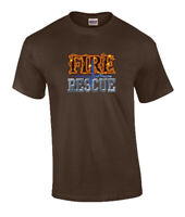 Firefighter Fire Rescue Graphic Short Sleeve Adult T Shirt