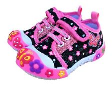 Baby Toddler Girl Shoes Size 6 Chulis Black Pink Sneakers