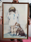 """Vintage Bessie Pease Gutmann In Disgrace with Framed 21.25"""" x 29.25"""""""
