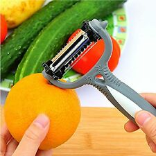 Roto Peeler 3 In 1 Cyclone Knife Serrated Wavy Chipping Easy Orange Peel