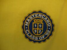 Vintage Mastercard Class Of 92 1992 Yellow Cotton T Shirt Size XL