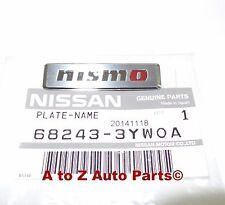 "NEW  Nissan Juke NISMO Brushed Interior Nameplate/Emblem With Red ""O"", OEM"