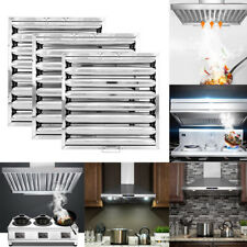 More details for canopy grease baffle filter stainless steel home kitchen extraction hood silver