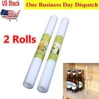 2 Rolls Waterproof Clear EVA Shelf Liner Drawer Liners for Kitchen Non Adhesive