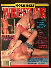 Gold Belt Wrestling Magazine March 1988 Hulk Hogan