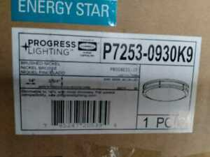 14'' CTC COMM Collection 23 -Watt Brushed Nickel  LED Flush Mount Progress Elec.