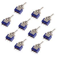 10 stk Mini MTS 102 3 polig SPDT ON ON 6A 125VAC Kippschalter Switch Pack