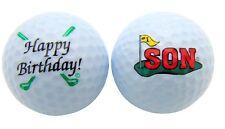 1 Dozen Happy Birthday SON Logo Mint Titleist Pro V1 Used Golf Balls