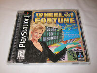 Wheel of Fortune (PlayStation PS1) Black Label Game Complete Excellent!