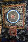 Thangka Tibet Mandala 4 Drachen beschriftet 24KtGoldmal Seidenbrokat 109x91cm