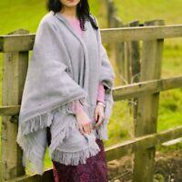High Quality Natural Baby ALPACA Wool Cape Poncho Wrap Shawl Coat from Ecuador