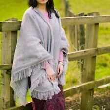 HIGH QUALITY NATURAL BABY ALPACA WOOL CAPE PONCHO WRAP SHAWL COAT FROM ECUADOR