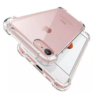 Case for iPhone 5 5s Shockproof Hybrid Crystal Clear Silicone Bumper TPU Cover